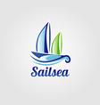 sail sea boat logo sign symbol icon vector image