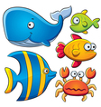 Sea Fish Collection vector image