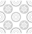 seamless pattern with grey circles and dots vector image