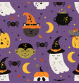 seamless pattern with magic elements vector image