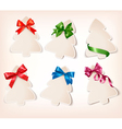 set beautiful gift cards with gift bows vector image vector image