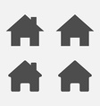 Set of home icons Home sign symbol vector image vector image