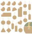 set of labels vector image vector image
