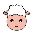 sheep face animal vector image