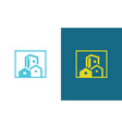 square building citysccape logo vector image