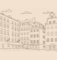 stortorget square in old city of stockholm hand vector image