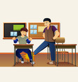 student bullying his friend vector image