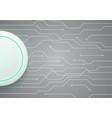technology future circuit white modern circle vector image vector image