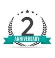 Template Logo 2 Years Anniversary