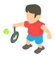 tennis player icon isometric 3d style vector image vector image