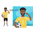 the evil black african american soccer player vector image vector image