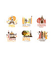 touristic logo templates design travel over the vector image vector image