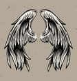 two angel wings template vector image vector image
