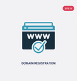 two color domain registration icon from search vector image