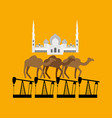 uae system sheikh zayed mosque stands on camel vector image vector image