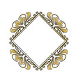 vintage frame geometric decoration heraldry blank vector image vector image
