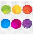 watercolor paint set vector image vector image
