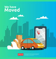 we have moved concept new location announcement vector image vector image