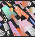 vintage memphis geometric seamless pattern vector image