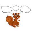 A brown squirrel with empty callouts vector image vector image