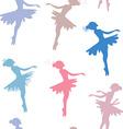 Ballerina seamless pattern vector image vector image