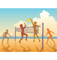 beach game vector image vector image