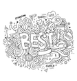 Best hand lettering and doodles elements vector image