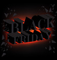 black friday sale promo poster limited time only vector image