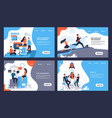 business landing page web site with cartoon vector image