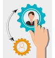 Business people work graphic vector image vector image