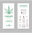 cannabidiol health benefits background vector image vector image