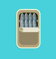 canned sardines in flat style vector image vector image