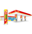 car petrol station vector image
