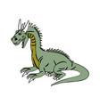 character dragon fantasy animal design vector image vector image