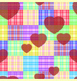 check striped and heart vector image