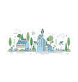 cityscape with modern eco friendly technology vector image vector image