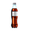cola bottle icon soda bottle with white lable vector image