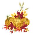 decor element in autumn harvest season festival in vector image vector image