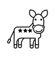 donkey usa democratic party line icon vector image vector image