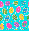 easter egg seamless pattern background with cute vector image