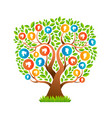 family tree with man and woman icons concept vector image vector image