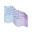 flag united states of america waving side in color vector image vector image