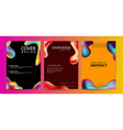 fluid color covers set colorful bubble shapes vector image vector image