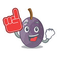 foam finger velvet tamarind fruit isolated on vector image