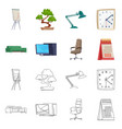 furniture and work logo vector image vector image
