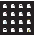 ghost emoji set Funny halloween emoticons vector image