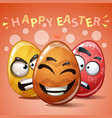 happy easter set color egg vector image