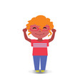 happy smiling and laughing avatar of cartoon vector image vector image