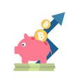 icon with ico blockchain concept vector image