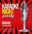 karaoke party retro vintage poster 01 vector image